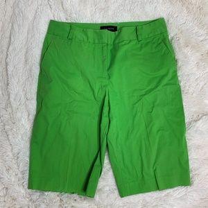 Talbots Green Bermuda Shorts Sz 6